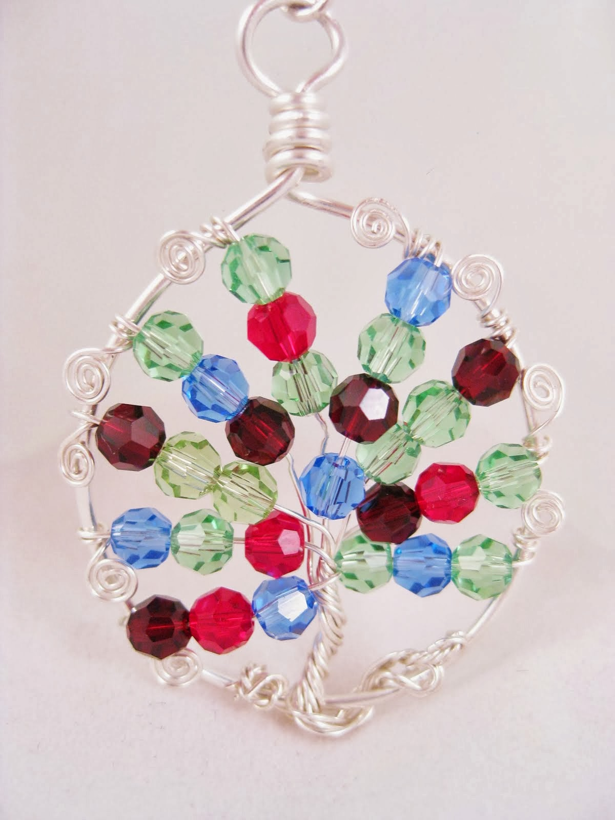 Mother Birthstone Tree of Life Pendant