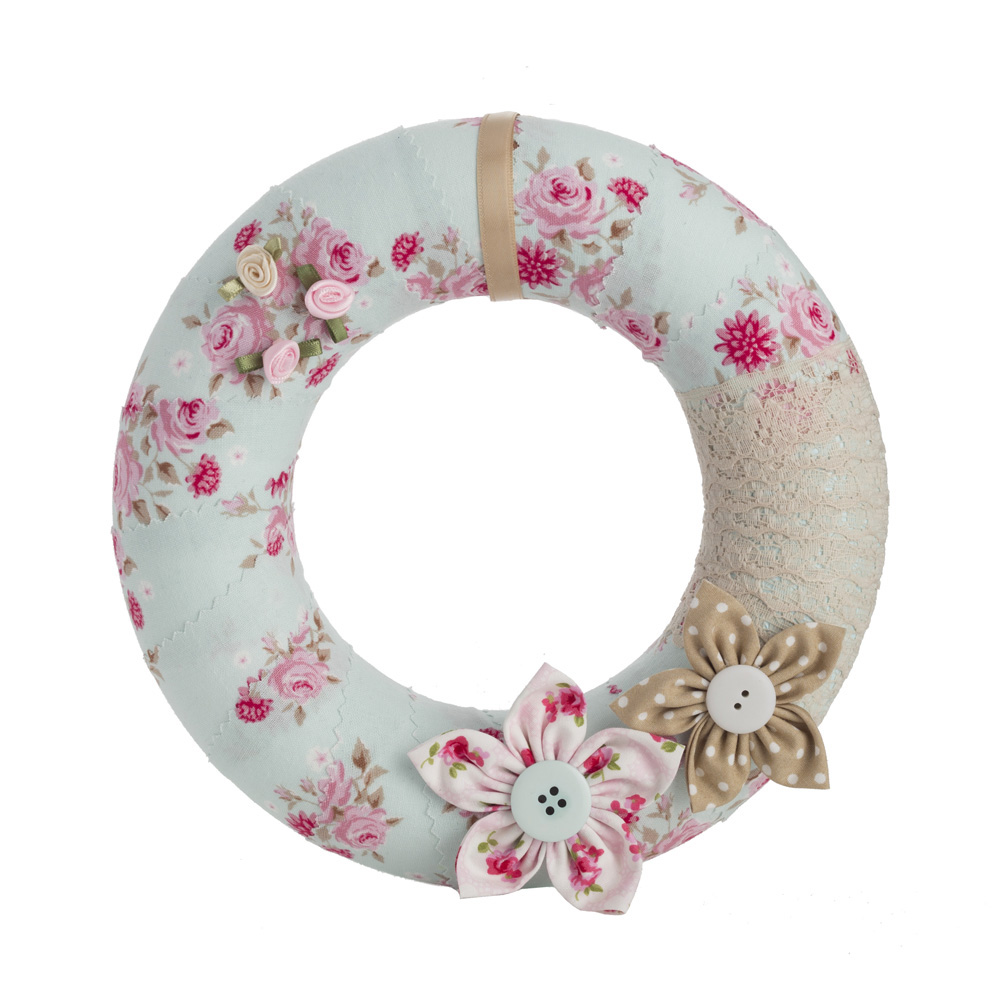 Blue floral wreath by Welaughindoors
