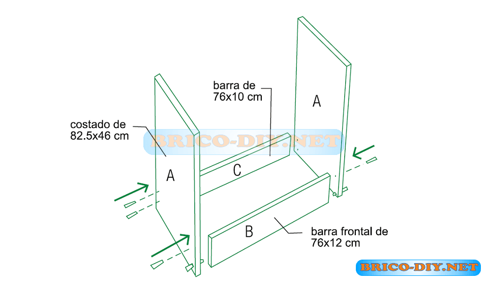 Bricolaje Diy Planos gratis Como hacer muebles de melamina - imagenes de muebles de cocina melamina