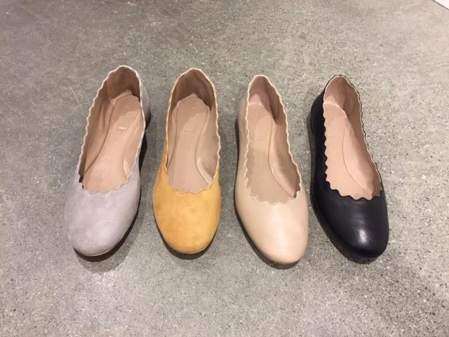 og semsket qF6xI5wx SHOES ca sko grå Ballerina i CHLOE surgery lys f0cX1