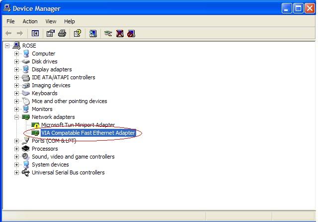 Via rhine ii fast ethernet adapter драйвер скачать windows xp