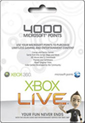 4000 Microsoft Points