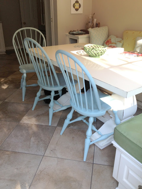 The Impatient Gardener -- chalk painted chairs