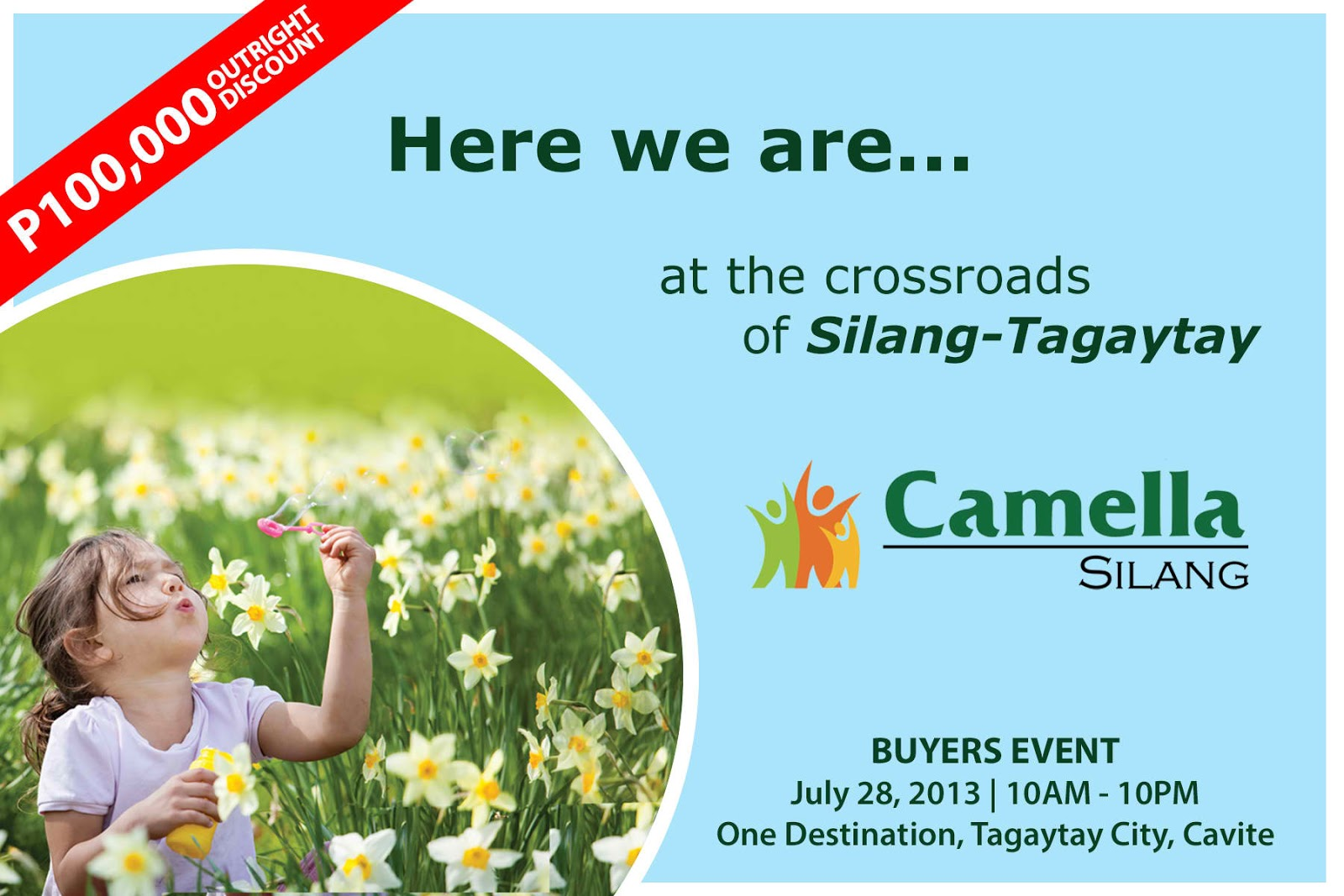 Camella silang tagaytay drina house and lot for sale in tagaytay city - After A Successful Extended Discount On Camella Altea Finally Camella Silang Is Here It S Camella Silang Grand Buyer S Day