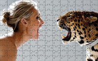 Leopard vs. girl