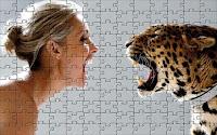 Leopard vs. girl