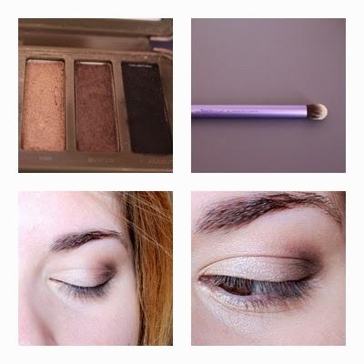 Troisième étape maquillage Naked 2