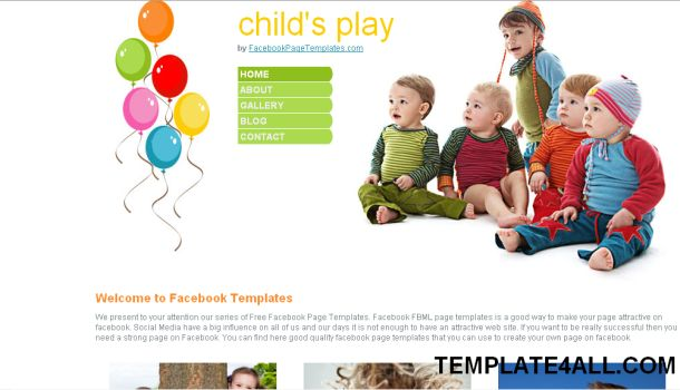 Family Kids CSS Website Template