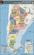 Mapa de la Rep. Argentina