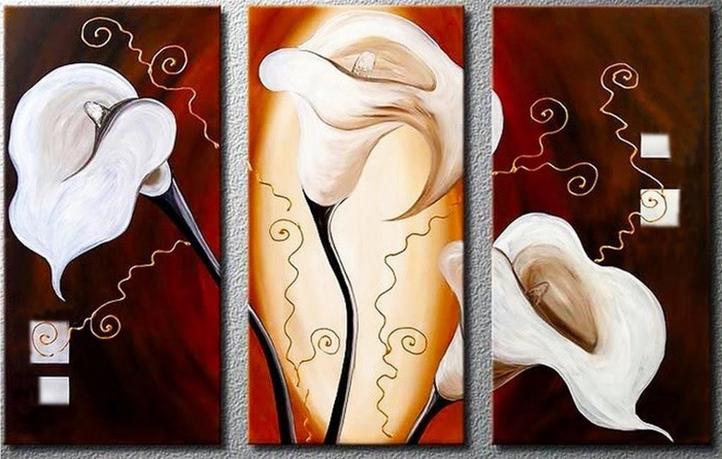 cuadros-tripticos-de-flores-blancas