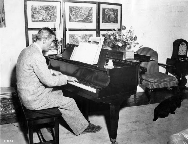 Karloff at his piano.