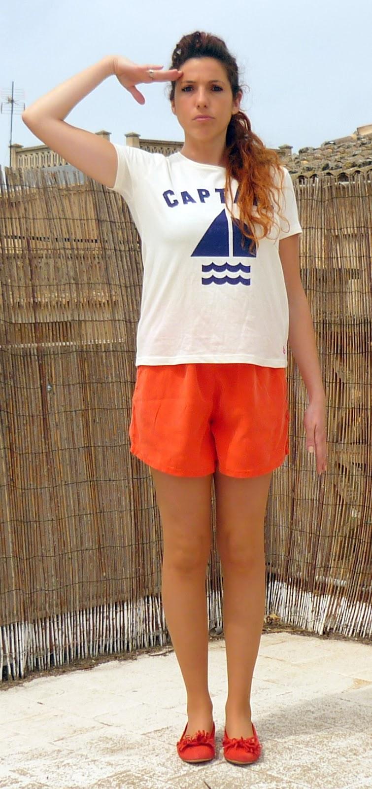 estilo navy naranja