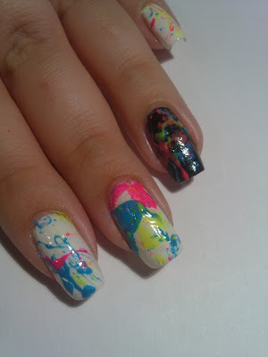 nail art splatter 06