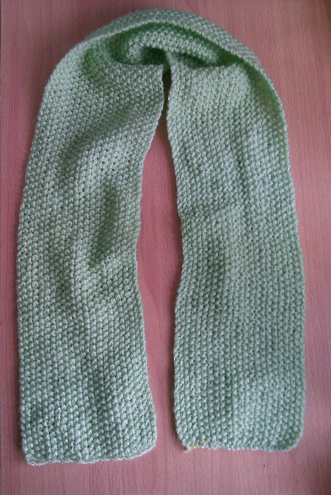 Knit Easie: Mossy Childs Scarf