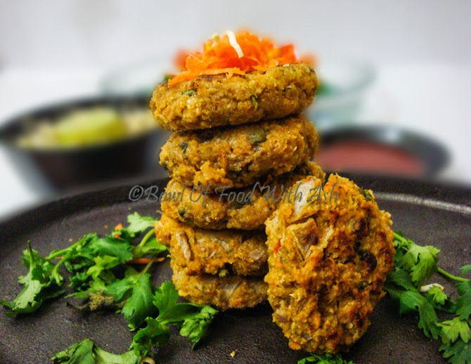 Oats and Sprouts Cutlet