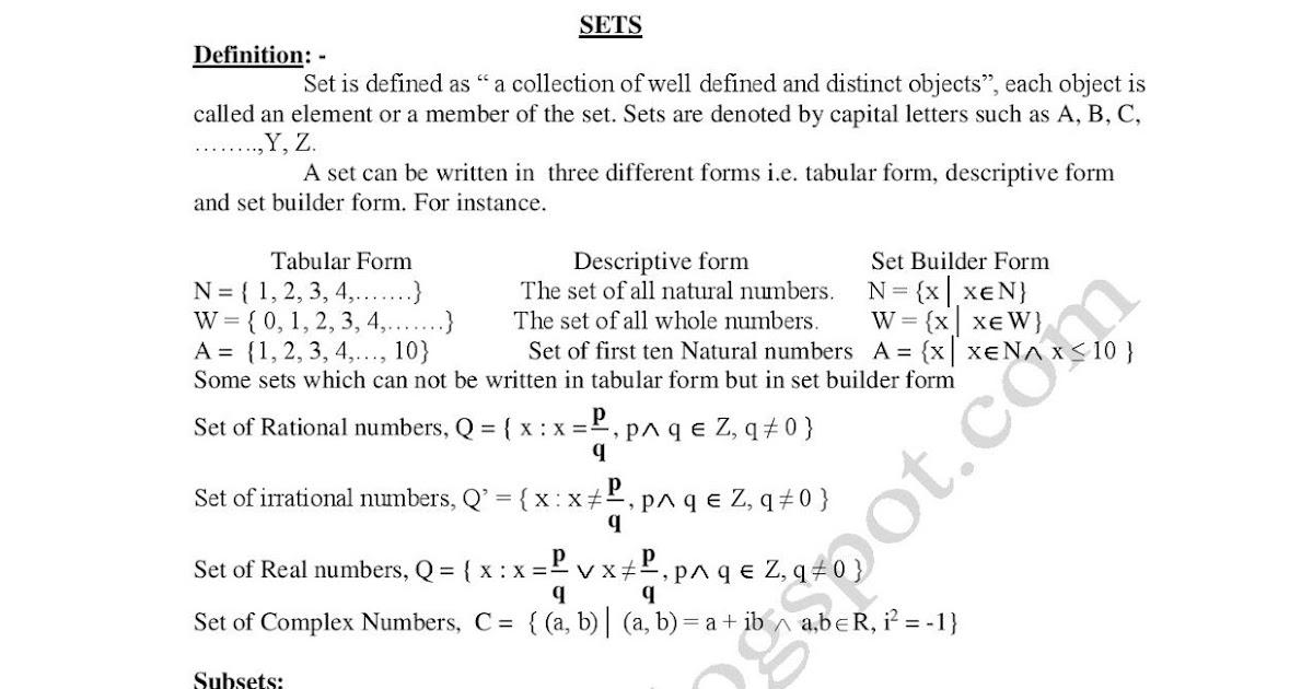Mathematics I Definitions Entrytest Prep And Admission Help