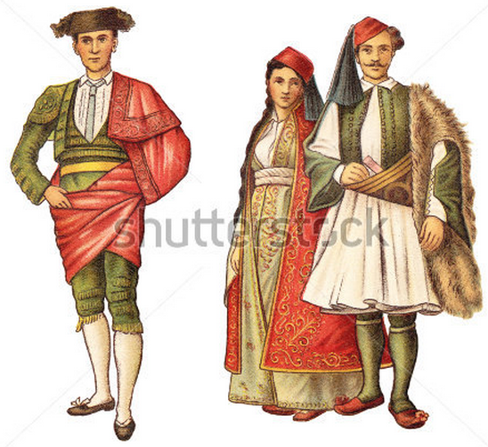 Woman and Man (Arnauts) from Ioannina - Greece (right)