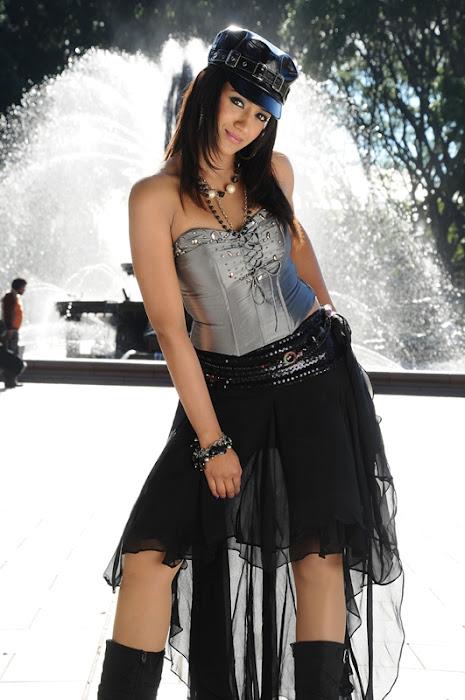 trisha spicy in black dress actress pics