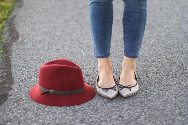 eugenia kim hat, jcrew flats