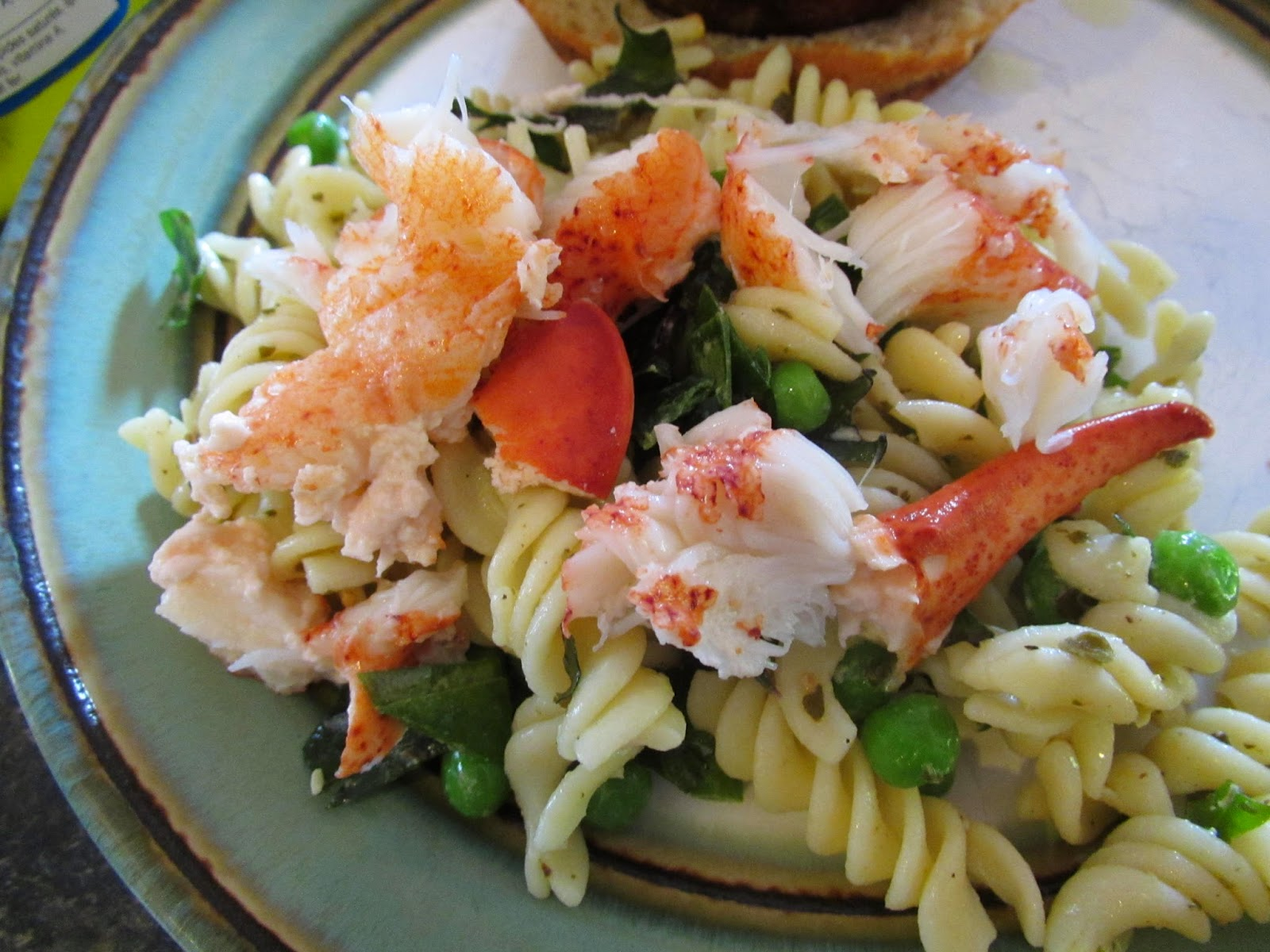 successfully gluten free pesto pasta salad w lobster