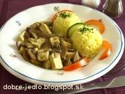 Tofu na šampiňónoch - recept