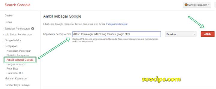 Cara Artikel Blog Cepat Terindex Google Dalam Beberapa Detik