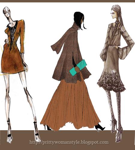 Кафяви дрехи Есен 2011 Дамска Мода