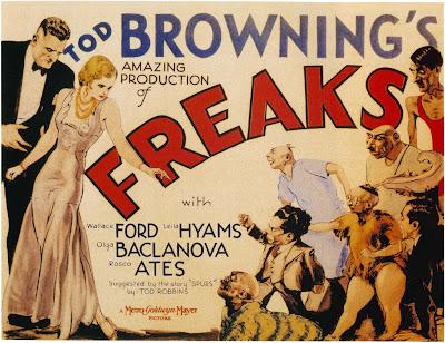 """Cartel de """"La Parada de los Monstruos"""" (Tod Browning, 1932)"""