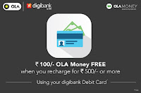 OLA : Recharge Ola with Rs.299 or More and Get Extra Rs.100