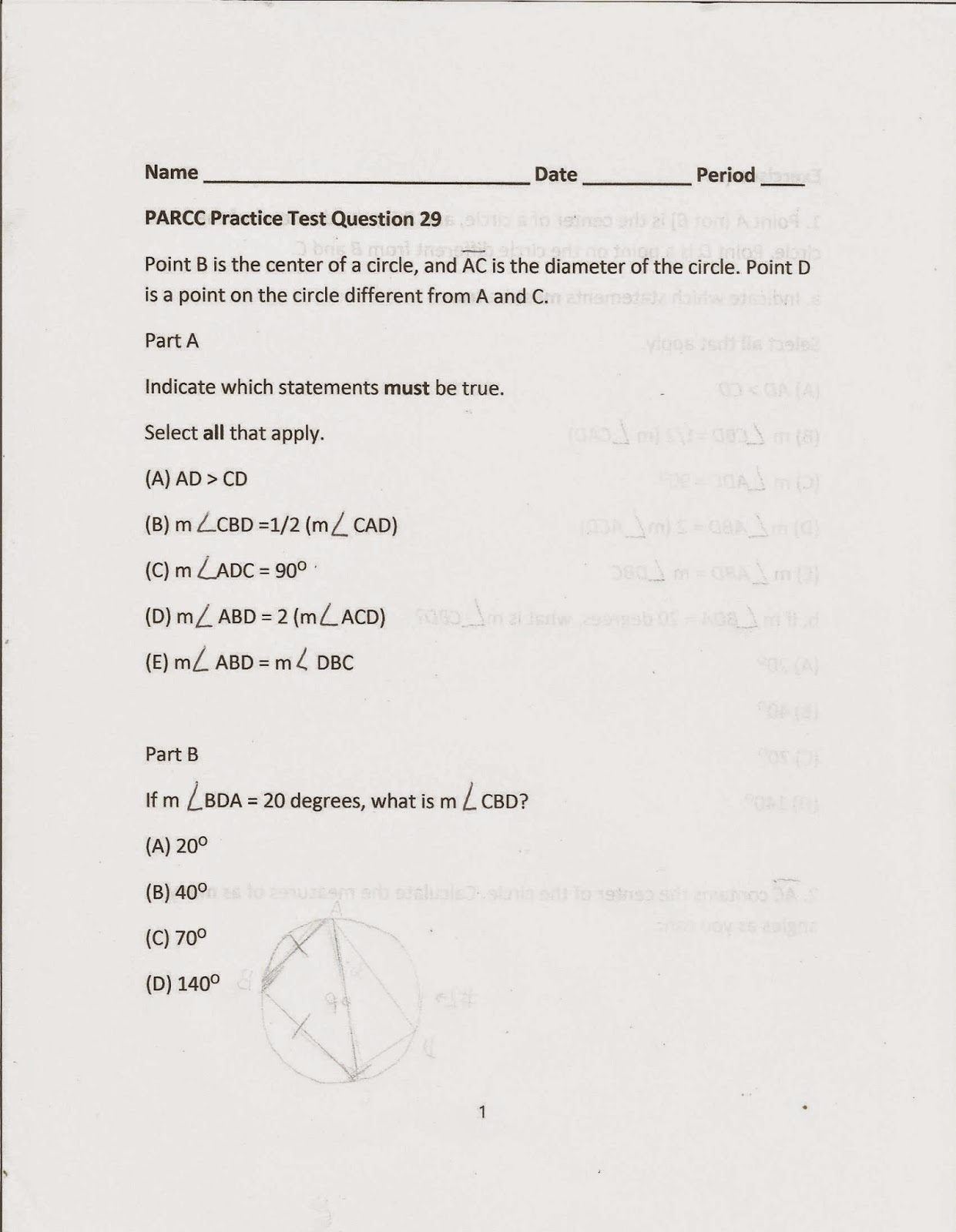 geometry common core style  in the spur section objective b including questions 7 through 11 are good questions to consider
