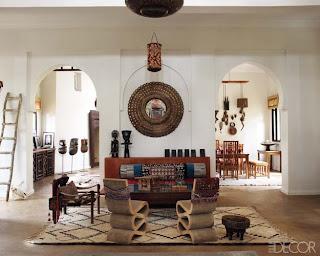interior rumah dengan dekorasi etnic