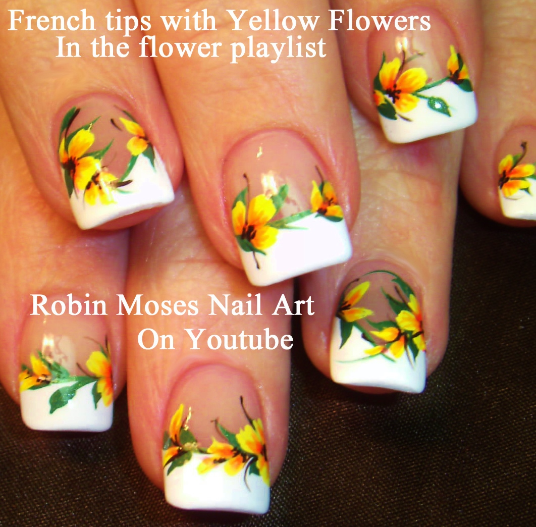 Robin Moses Nail Art Designs: Robin Moses Nail Art: Elegant DIY Black And Yellow Design