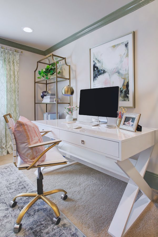 Sophisticated & Feminine Home Office | Honey We're Home & Sita Montgomery .