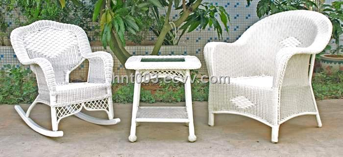 Tortuga Portside Coastal White Wicker Dining Set Psdwh Plastic Rattan Outdoor Furniture