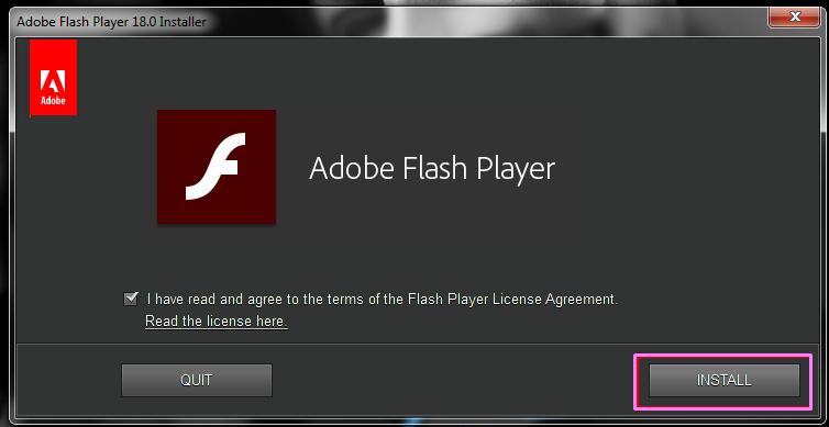 Где находится adobe flash player windows