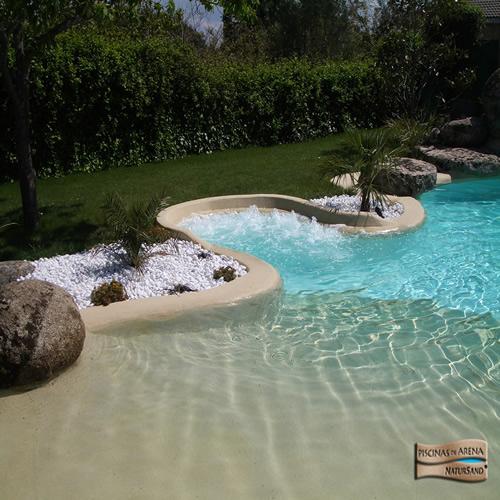 Home design inmobiliaria piscinas de arena la playa en casa - Piscinas tipo playa ...