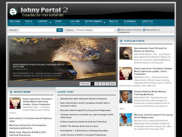 Johny Portal 2 Blogger Template
