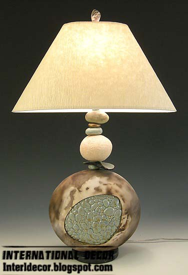 Stone Pebbles Table Lamp Contemporary Styles