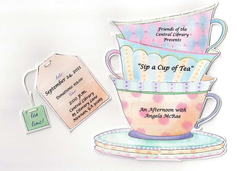 Christian ladies tea party games invitations party for Morning tea invitation template free