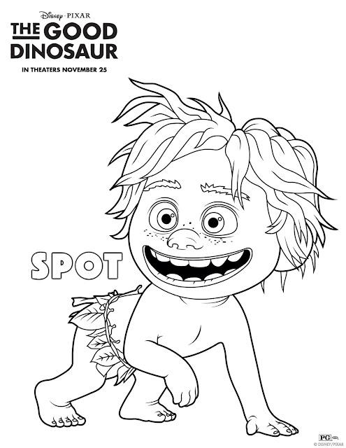 The Good Dinosaur Spot Coloring Page
