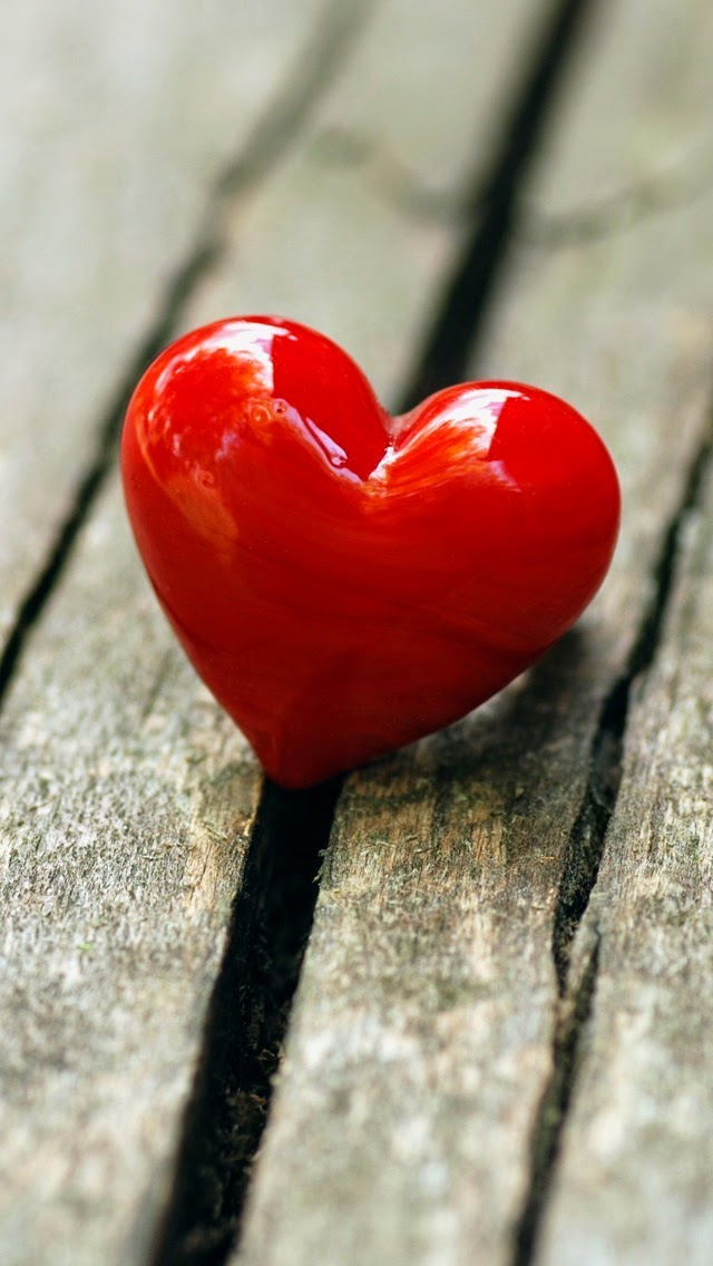 Red heart mood love iphone 6 wallpaper