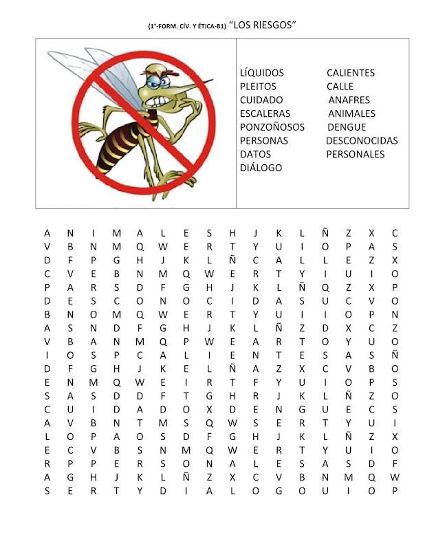 Sopa de letras del dengue