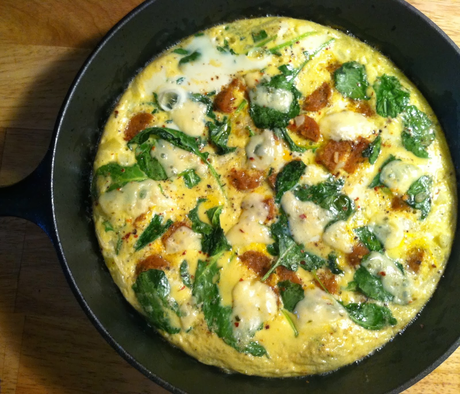 Kale, Onion, and Sausage Frittata | The Economical Eater