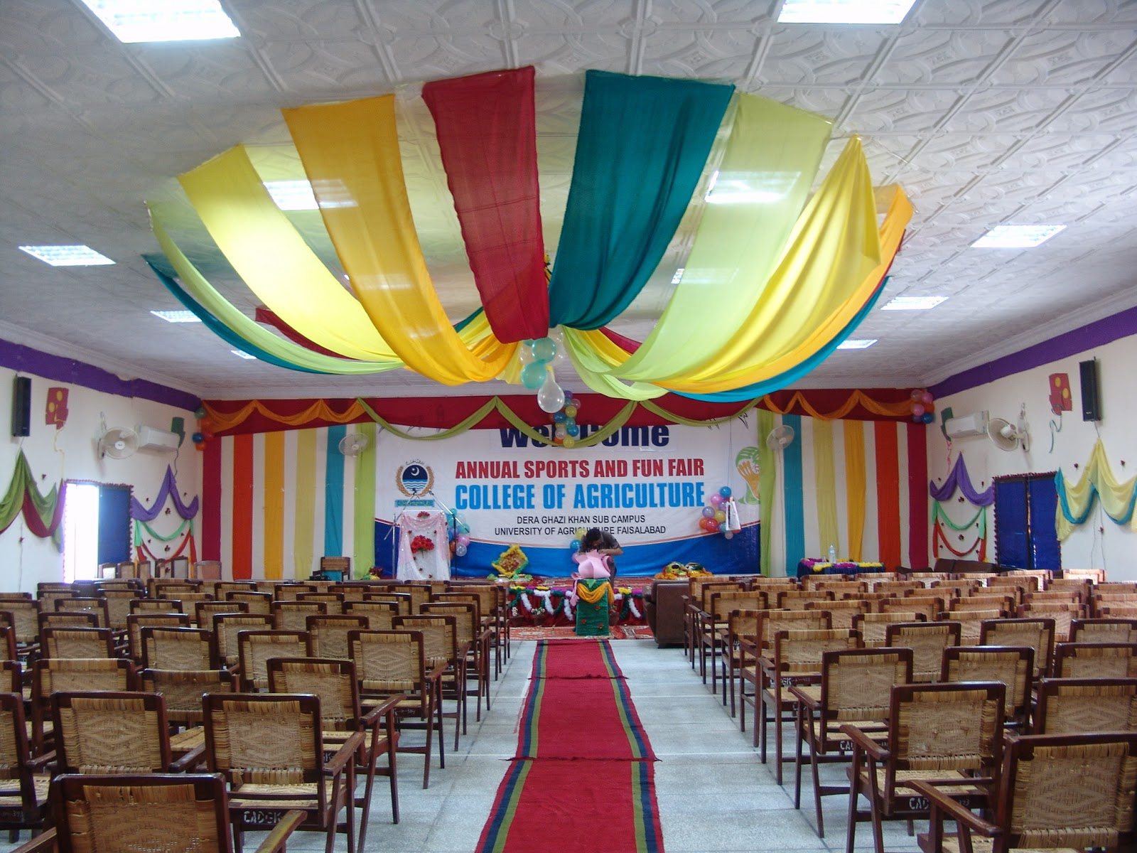 College of agriculture dera ghazi khan college for Annual function decoration
