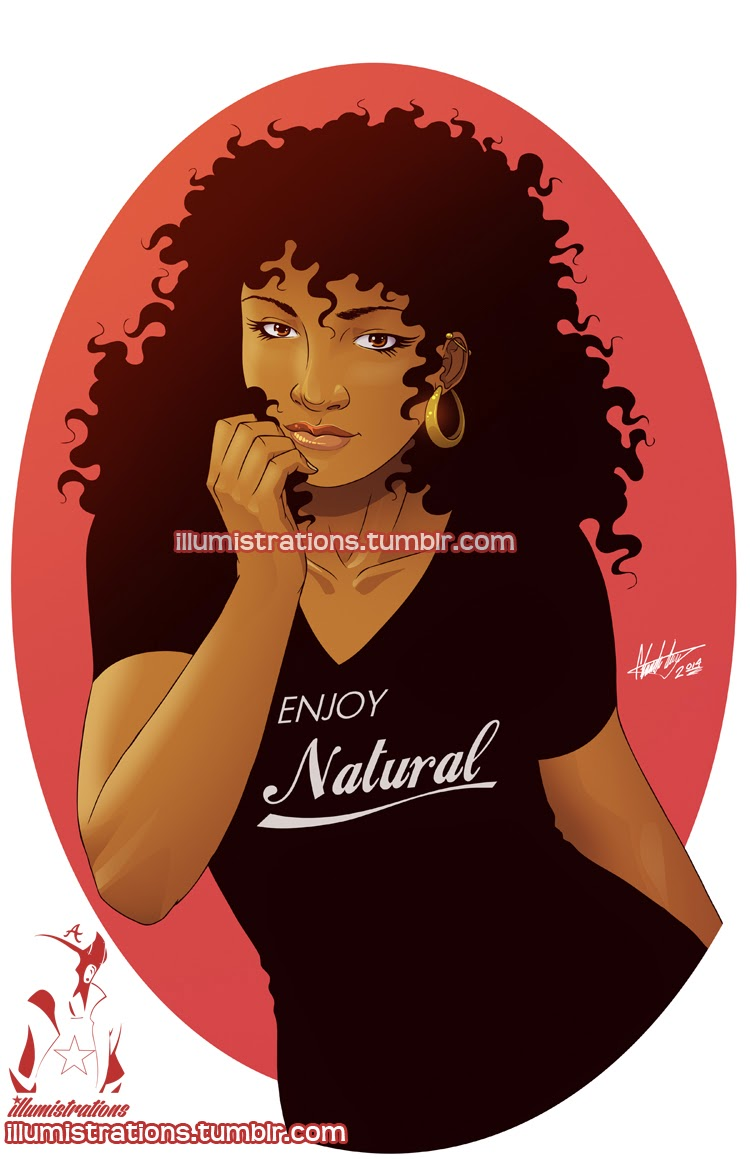 drawing sketch illustration black woman african american natural hairstyle afro fro naturalista image drawing curly kinky enjoy natural hair