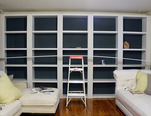 I Did The Same Thing With The Crown Molding: Held Into Place And Nailed  Into The Bookcase. Step ...