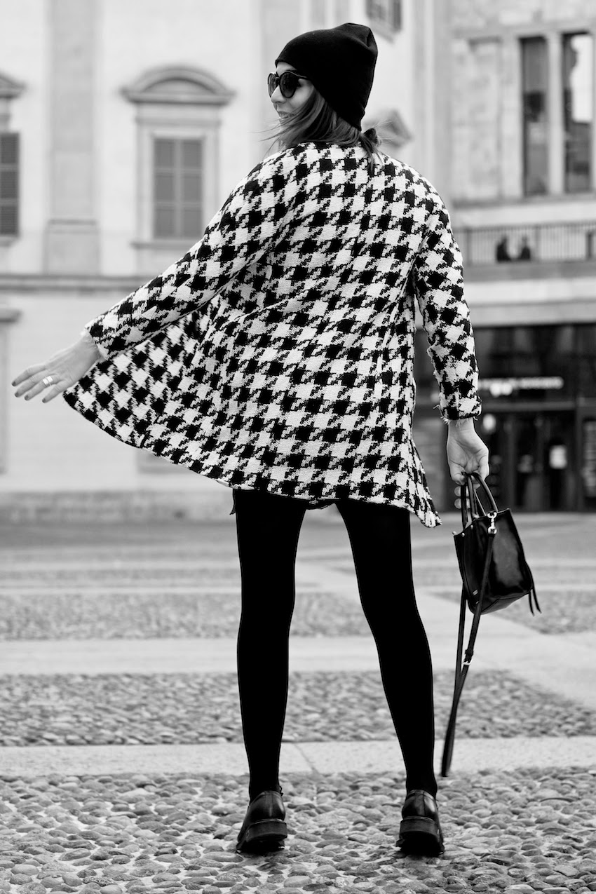 houndstooth coat outfit fashion blogger