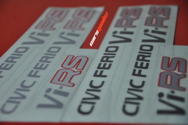 ViRS - civic ferio decals stickers 7