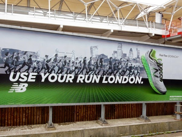 New Balance Use your run London billboard