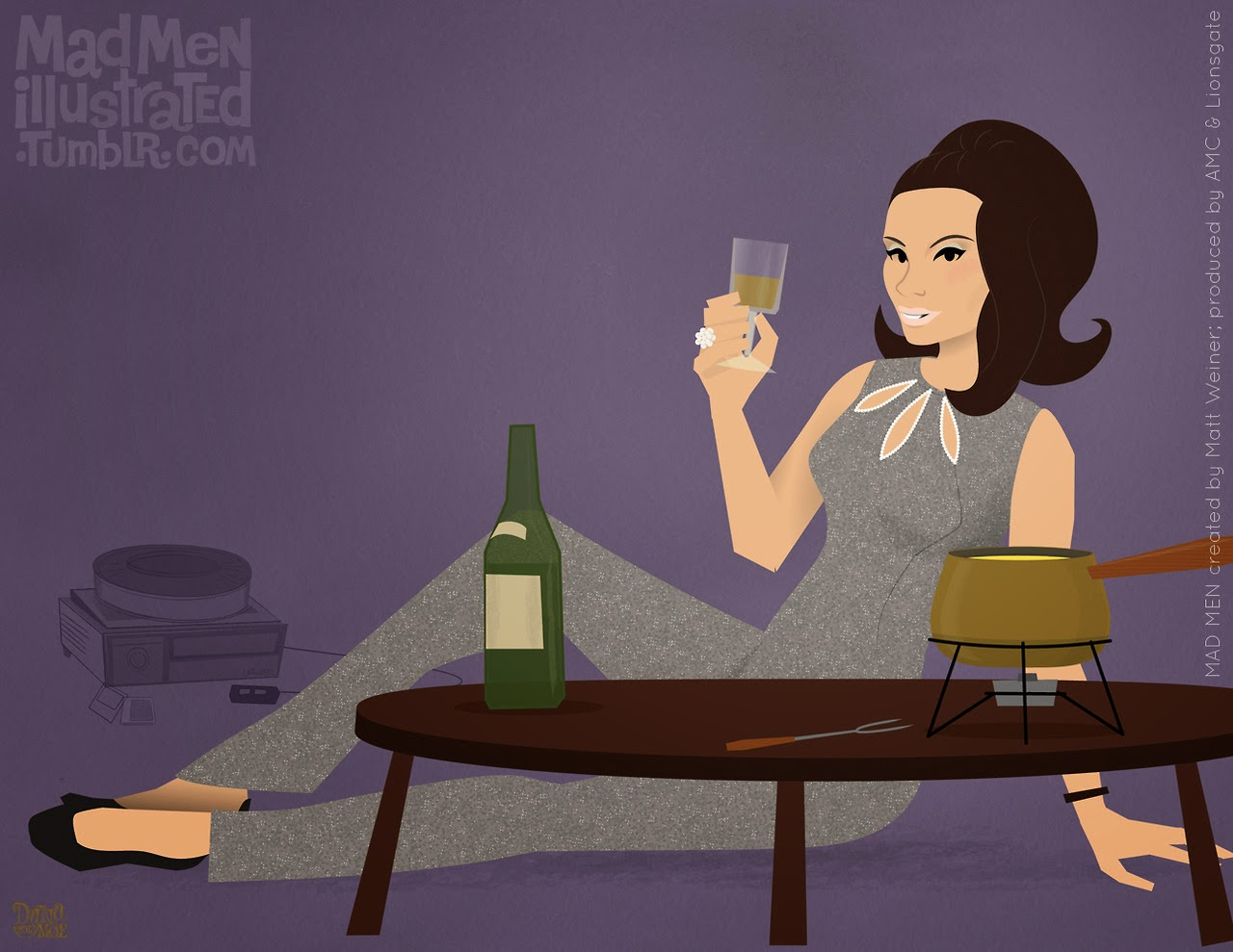 ©Dyna Moe. Mad Men illustrated. Season Six